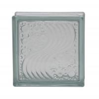 Caramida sticla Wave, interior / exterior, 19 x 19 x 8 cm