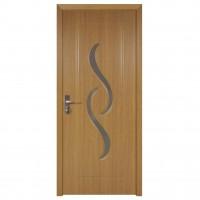 Usa de interior din lemn cu geam Super Door F07-68-Q stanga / dreapta stejar deschis 203 x 68 cm