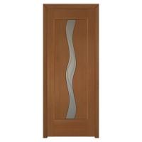 Usa de interior din lemn cu geam BestImp 014-78-J stanga / dreapta stejar auriu 203 x 78 cm
