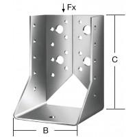 Papuc grinda tip B, din otel zincat, Vormann, 60 x 100 mm