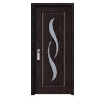 Usa de interior din lemn cu geam Super Door F07-68-T stanga / dreapta wenge 203 x 68 cm