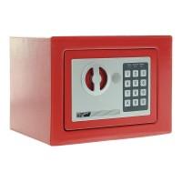 Seif mobila Rottner Dagobert T03874/T04578, electronic cu 2 bolturi, din otel, rosu / negru, 230 x 170 x 180 mm