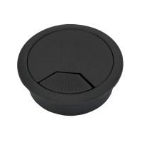 Suport pentru trecere cabluri, din plastic, negru, D 60 mm