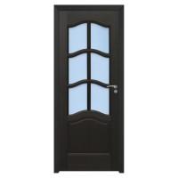 Usa de interior din lemn cu geam BestImp 013-78-W stanga / dreapta wenge 203 x 78 cm