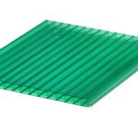 Policarbonat celular cu 2 pereti, verde, 6000 x 2100 x 6 mm