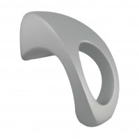 Buton pentru mobila, metalic, cromat satinat, 57 x 25 x 30 mm