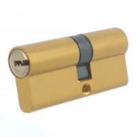 Cilindru siguranta pentru usi metalice Assa Abloy Ady, natur, 5 chei, 25 x 10 x 35 mm