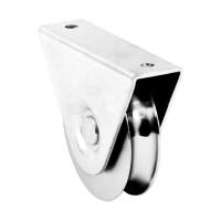 Rola suport exterior, profil V, porti culisante, otel, 100 mm