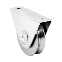 Rola suport exterior, profil R, porti culisante, otel, 80 mm