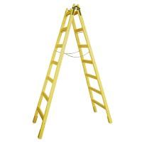 Scara lemn pentru zugrav, 7 trepte, 250 cm
