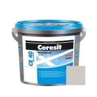 Chit de rosturi gresie si faianta Ceresit CE 40, gri Silver, interior / exterior, 5 kg