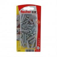 Diblu universal din nylon, cu surub, cap inecat, Fischer SX, 5 x 25 mm, set 20 bucati