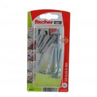 Diblu universal din nylon, cu surub cu carlig in vinclu, Fischer UX, 6 x 35 mm, 4 bucati