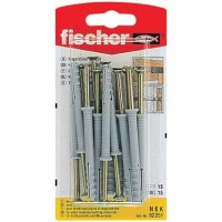 Diblu universal din nylon, cu surub cui, Fischer N, 6 x 60 mm, 15 bucati