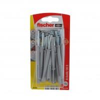 Diblu universal, din nylon, cu surub cui, Fischer N, 6 x 60 mm, set 15 bucati