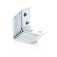 Coltar tip L, pentru mobila, din otel zincat, 30 x 30 x 16 mm, 8 bucati
