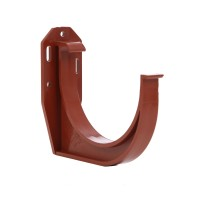 Colier PP pentru prindere jgheab Kanion, rosu-caramiziu, 130 mm