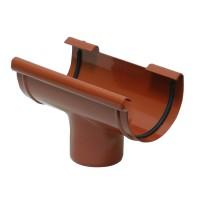 Iesire jgheab Kanion, PVC, rosu, 130/90 mm