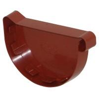 Dop terminal exterior dreapta Wavin Kanion, PVC, semicircular, rosu, 130 mm