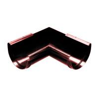 Coltar de jgheab Wavin Kanion, unghi interior, PVC, semicircular, rosu-caramiziu, 130/90 mm