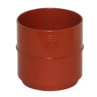 Mufa pentru burlan Wavin Kanion, PVC, circulara, rosu, 90 mm