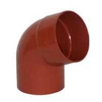 Cot burlan cu o mufa Wavin Kanion, PVC, rosu, circular, D 90 mm, 67 grade