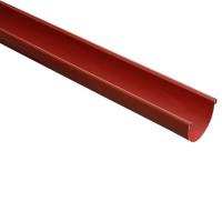 Jgheab PVC Wavin Kanion, rosu, 130 x 3000 mm