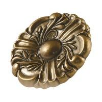 Buton pentru mobila, metalic, alamit antic, 36 x 19 mm