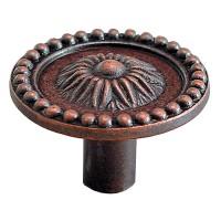 Buton pentru mobila, metalic, cupru antic, 26 x 20 mm