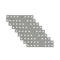 Placute metalice, tip I, pentru mobilier, zincat alb, 50 x 25 mm, set 8 bucati