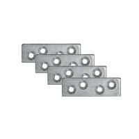 Placute metalice, tip I, pentru mobilier, zincat alb, 60 x 16 mm, set 4 bucati