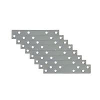 Placute metalice, tip I, pentru mobilier, zincat alb, 60 x 20 mm, set 8 bucati