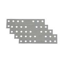 Placute metalice, tip I, pentru mobilier, zincat alb, 60 x 25 mm, set 4 bucati