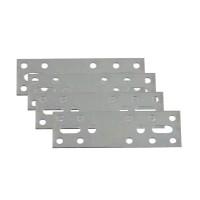 Placute metalice, tip I, pentru mobilier, zincat alb, 80 x 30 mm, set 4 bucati