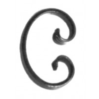 Element fier forjat tip C ART 80/A/9, 105 x 70 mm