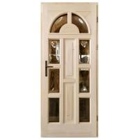 Usa intrare din lemn, Zsuzsana, natur, cu sticla bombata, dreapta, 88 x 208 cm