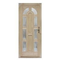 Usa intrare din lemn, Zsuzsana, natur, cu sticla bombata, stanga, 98 x 208 cm