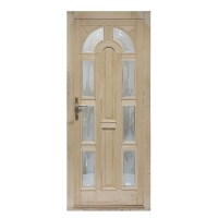 Usa intrare din lemn, Zsuzsana, natur, cu sticla bombata, dreapta, 98 x 208 cm