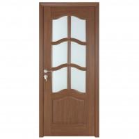 Usa de interior din lemn cu geam BestImp 013-78-J stanga / dreapta stejar auriu 203 x 78 cm