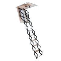 Scara mansarda, Profil Metal, metal + lemn, retractabila, 60 x 110 x 280 cm