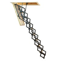 Scara mansarda, Profil Metal, metal + lemn, retractabila, 70 x 110 x 280 cm