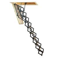 Scara mansarda, Profil Metal, metal + lemn, retractabila, 80 x 110 x 280 cm