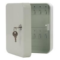 Caseta pentru chei TS20, metal, alb,20.5 x 16.5 x 8.5 cm