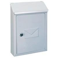 Cutie postala pentru interior / exterior Rottner  Udine, otel galvanizat, alb, 21 x 7 x 30 cm