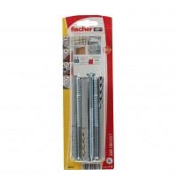 Diblu universal din nylon, cu surub de siguranta, Fischer SXR, 10 x 120 mm, set 4 bucati