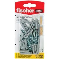 Diblu universal din nylon, cu surub, Fischer SX 5 x 25 mm, 25 bucati