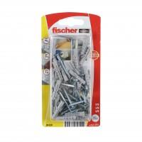 Diblu universal din nylon, cu surub, Fischer S 5 S, 5 x 25 mm, set 25 bucati