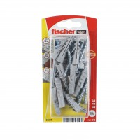 Diblu universal din nylon, cu surub, Fischer S 8 S, 8 x 40 mm, set 10 bucati