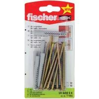 Diblu universal din nylon, cu surub cu cap inecat, Fischer UX, 6 x 50 mm, 10 bucati