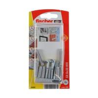 Diblu universal din nylon, cu surub in vinclu, Fischer SX, 6 x 30 mm, set 8 bucati